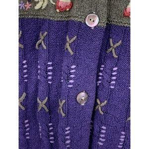robert scott Sweaters - Robert Scott small cardigan silk linen floral